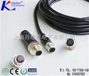 M12航空连接器,M12防水接插件,法兰圆形航空接插件
