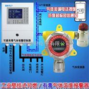 喷漆车间可燃气体检测报警器,有害气体报警器与防爆电磁阀门怎么连接