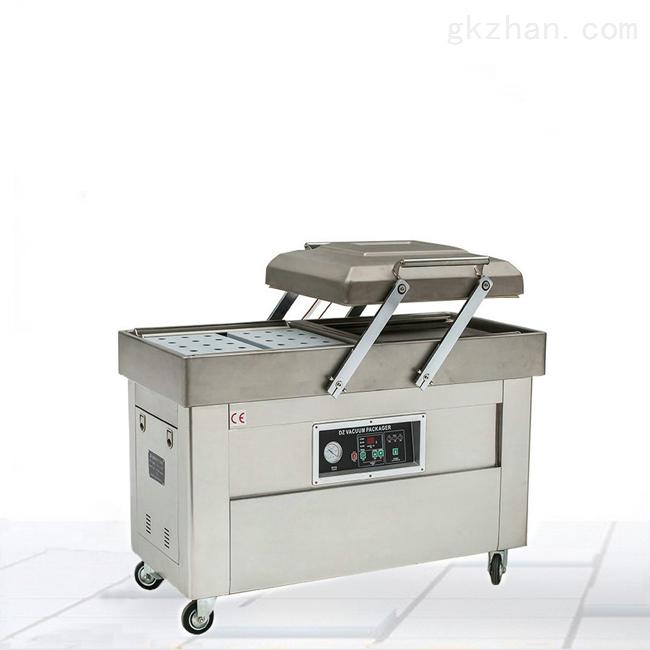 自动抽气倾斜式食品榨菜双室真空包装机价格
