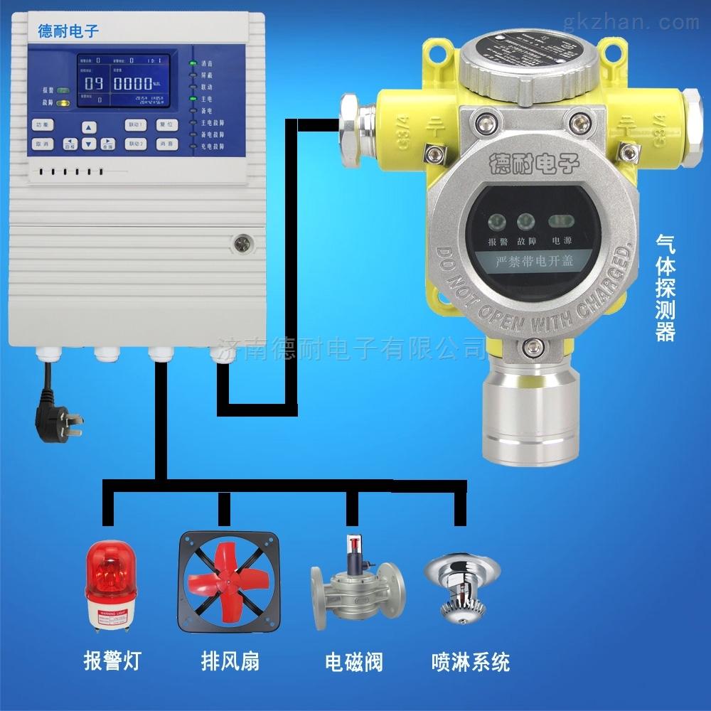 固定式丙烷红外气体检测报警器,无线监控