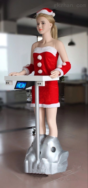 美女无轨送餐机器人