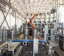 化工料桶机器人自动清洗线