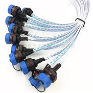 供应M13防水连接器线束2芯3芯5芯8芯航空插头线束加工