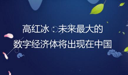 高红冰:未来最大的数字经济体将出现在中国