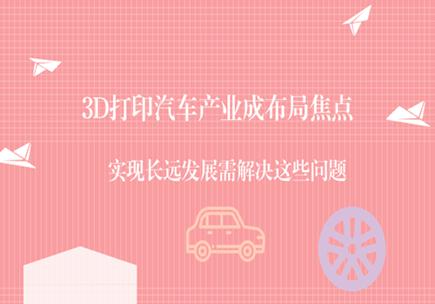 3D打印汽车产业成布局焦点,实现长远发展需解决这些问题