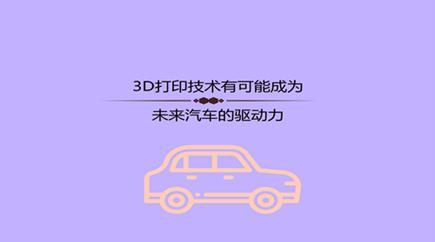 3D打印技术有可能成为未来汽车的驱动力