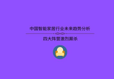 中國智能家居行業未來趨勢分析 四大陣營激烈廝殺