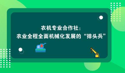 """农机专业合作社:农业全程全面机械化发展的""""排头兵"""""""