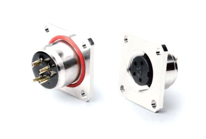 AISG压接航空插座母座 产品编号:KYF16K口Z-F26-20-Q (备注:口表示芯数,根据实际需要填写) 详细介绍:AISG圆形连接器是通信行业广泛采用的一系列连接器。芯数为8芯及以内,有压线式和焊线式、焊板式三种端接方式,外壳材质有铜、锌合金两种可供选择,防水等级IP67,主要用于电调天线。我司生产的此系列产品符合AISG标准,可以国内外同类产品互换。