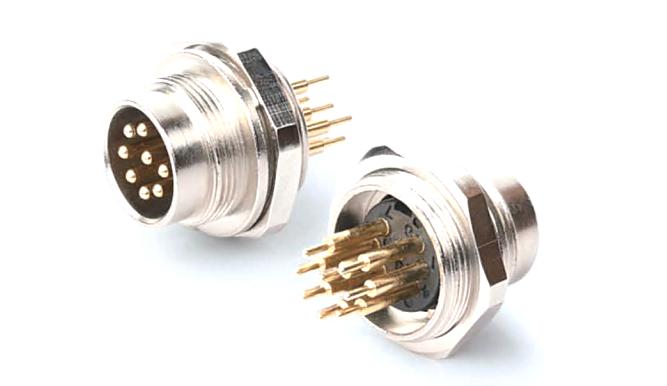 AISG航空插座公座焊板 产品编号:KYF16K口Z-M18x0.75-O-Q (备注:口表示芯数,根据实际需要填写) 详细介绍:AISG圆形连接器是通信行业广泛采用的一系列连接器。芯数为8芯及以内,有压线式和焊线式、焊板式三种端接方式,外壳材质有铜、锌合金两种可供选择,防水等级IP67,主要用于电调天线。我司生产的此系列产品符合AISG标准,可以国内外同类产品互换。